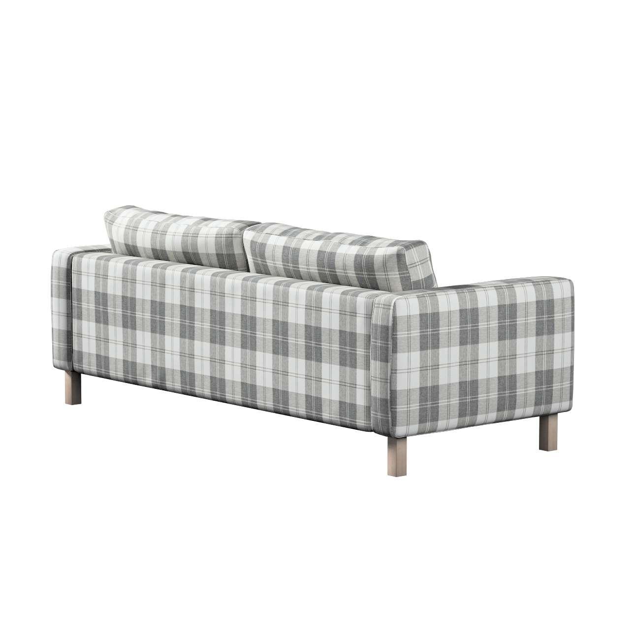 Pokrowiec na sofę Karlstad 3-osobową nierozkładaną, krótki w kolekcji Edinburgh, tkanina: 115-79