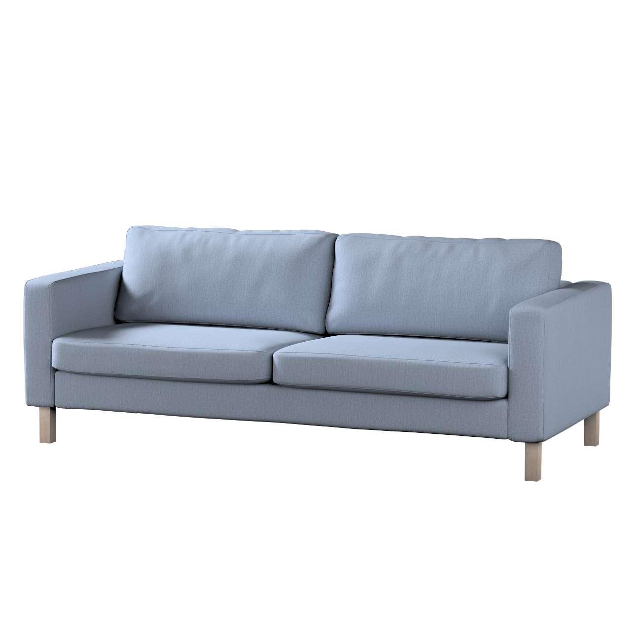 Pokrowiec na sofę Karlstad 3-osobową nierozkładaną, krótki Sofa Karlstad 3-osobowa w kolekcji Chenille, tkanina: 702-13