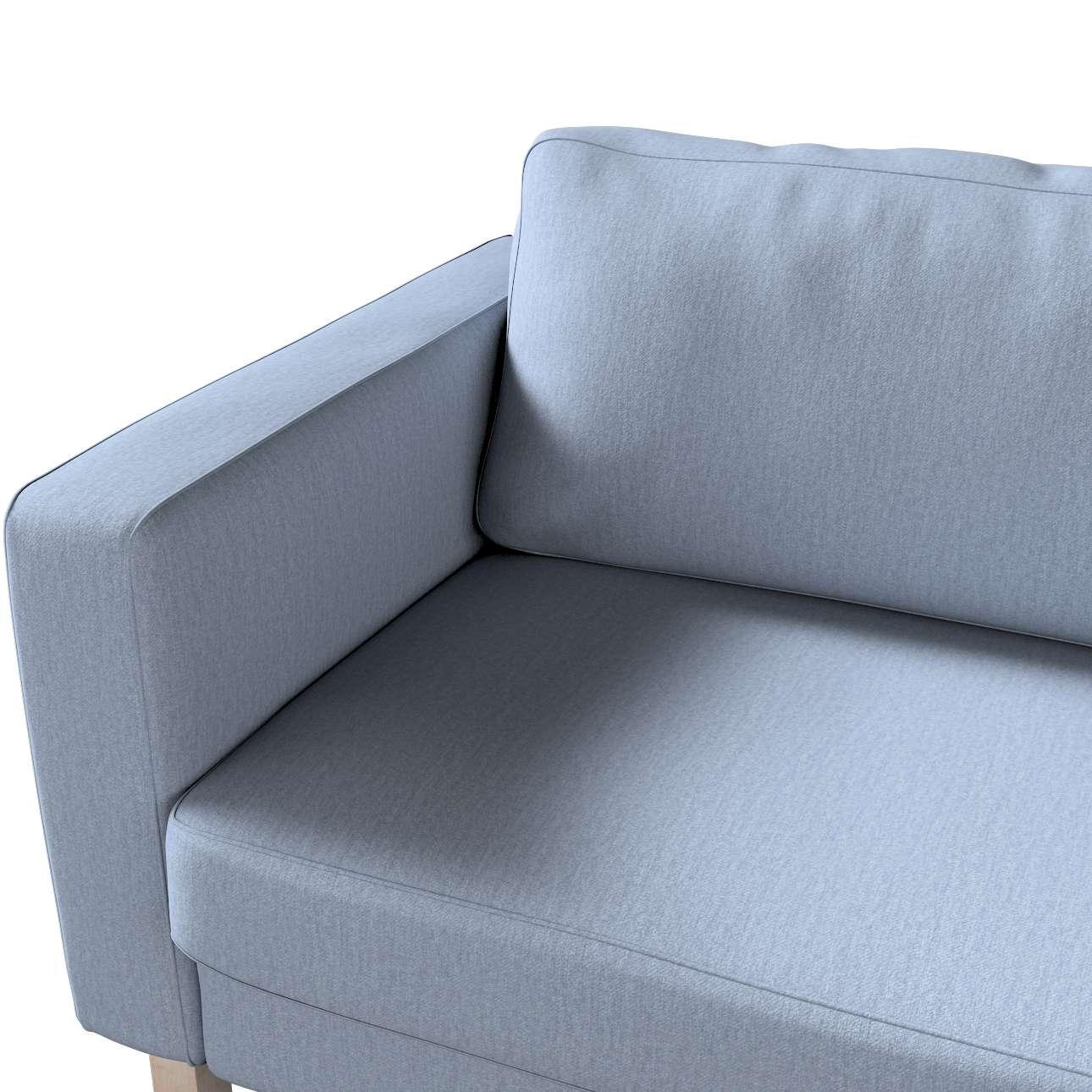 Pokrowiec na sofę Karlstad 3-osobową nierozkładaną, krótki w kolekcji Chenille, tkanina: 702-13