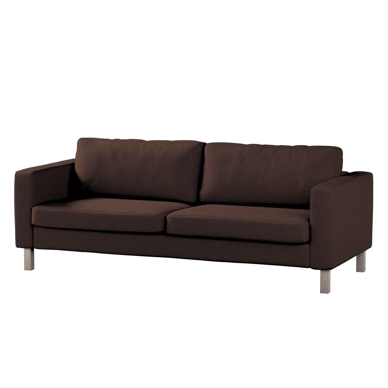 Pokrowiec na sofę Karlstad 3-osobową nierozkładaną, krótki Sofa Karlstad 3-osobowa w kolekcji Chenille, tkanina: 702-18