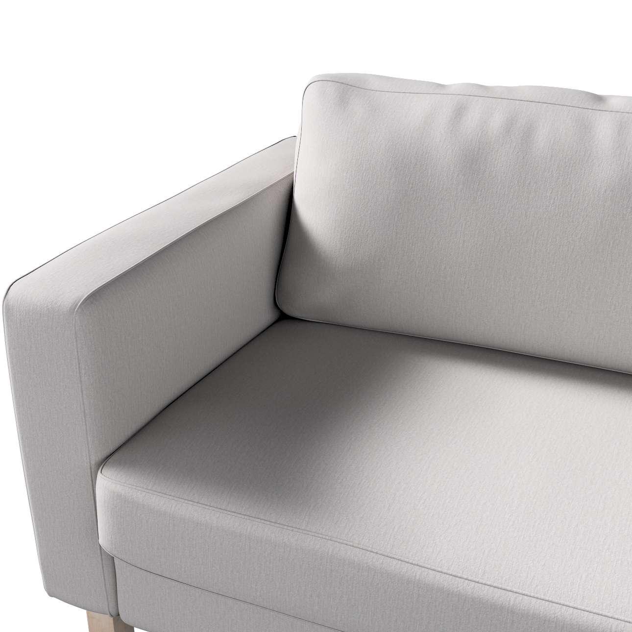 Pokrowiec na sofę Karlstad 3-osobową nierozkładaną, krótki w kolekcji Chenille, tkanina: 702-23