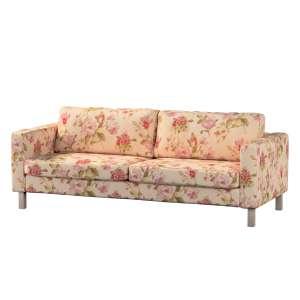Pokrowiec na sofę Karlstad 3-osobową nierozkładaną, krótki Sofa Karlstad 3-osobowa w kolekcji Londres, tkanina: 123-05