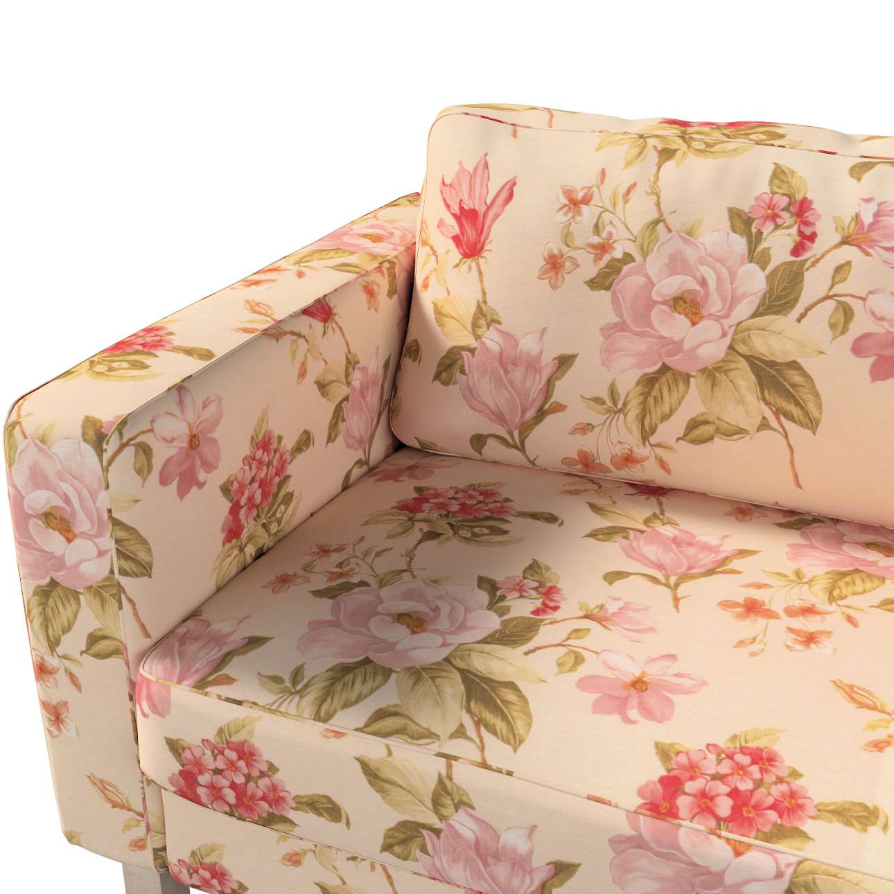 Pokrowiec na sofę Karlstad 3-osobową nierozkładaną, krótki w kolekcji Londres, tkanina: 123-05