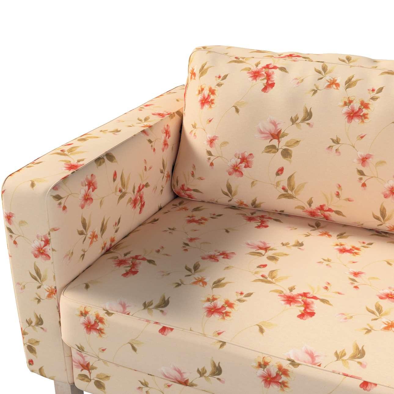 Pokrowiec na sofę Karlstad 3-osobową nierozkładaną, krótki w kolekcji Londres, tkanina: 124-05