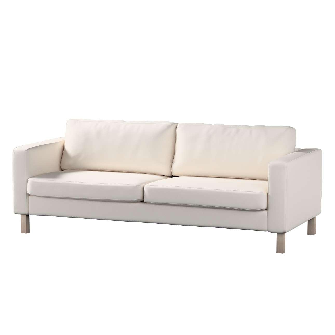 Pokrowiec na sofę Karlstad 3-osobową nierozkładaną, krótki w kolekcji Etna, tkanina: 705-01