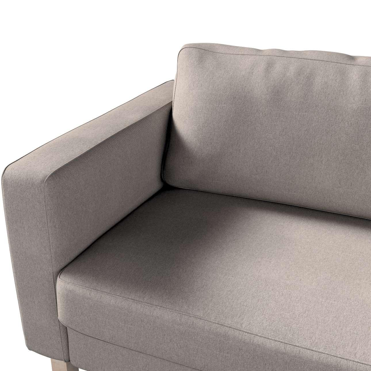 Pokrowiec na sofę Karlstad 3-osobową nierozkładaną, krótki w kolekcji Etna, tkanina: 705-09