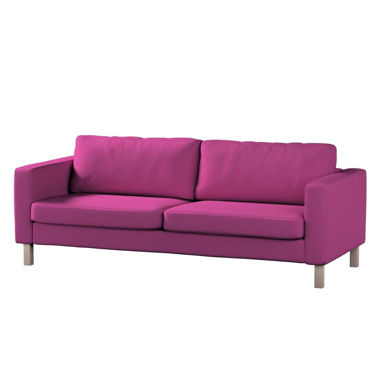 Pokrowiec na sofę Karlstad 3-osobową nierozkładaną, krótki Sofa Karlstad 3-osobowa w kolekcji Etna , tkanina: 705-23