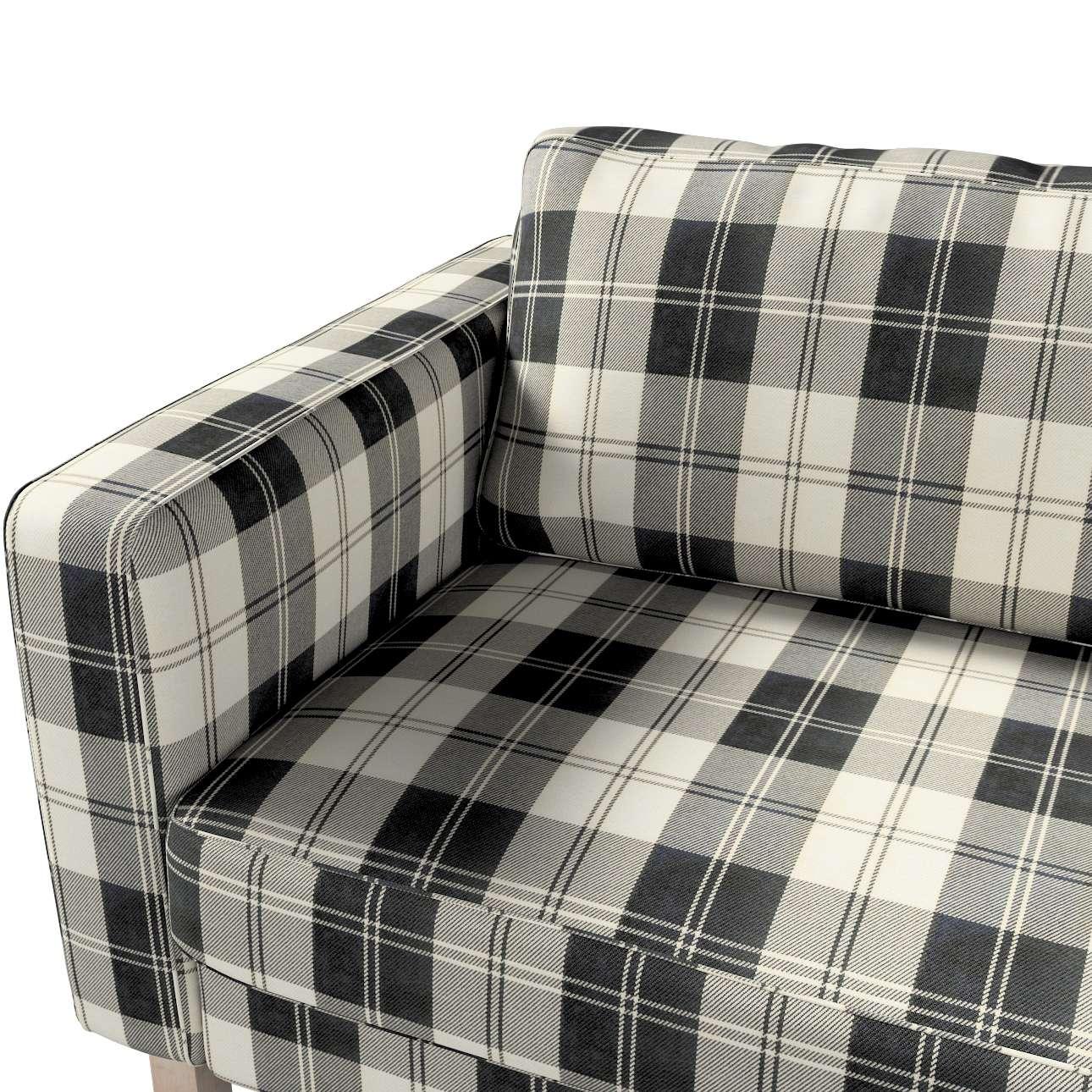 Pokrowiec na sofę Karlstad 3-osobową nierozkładaną, krótki w kolekcji Edinburgh, tkanina: 115-74