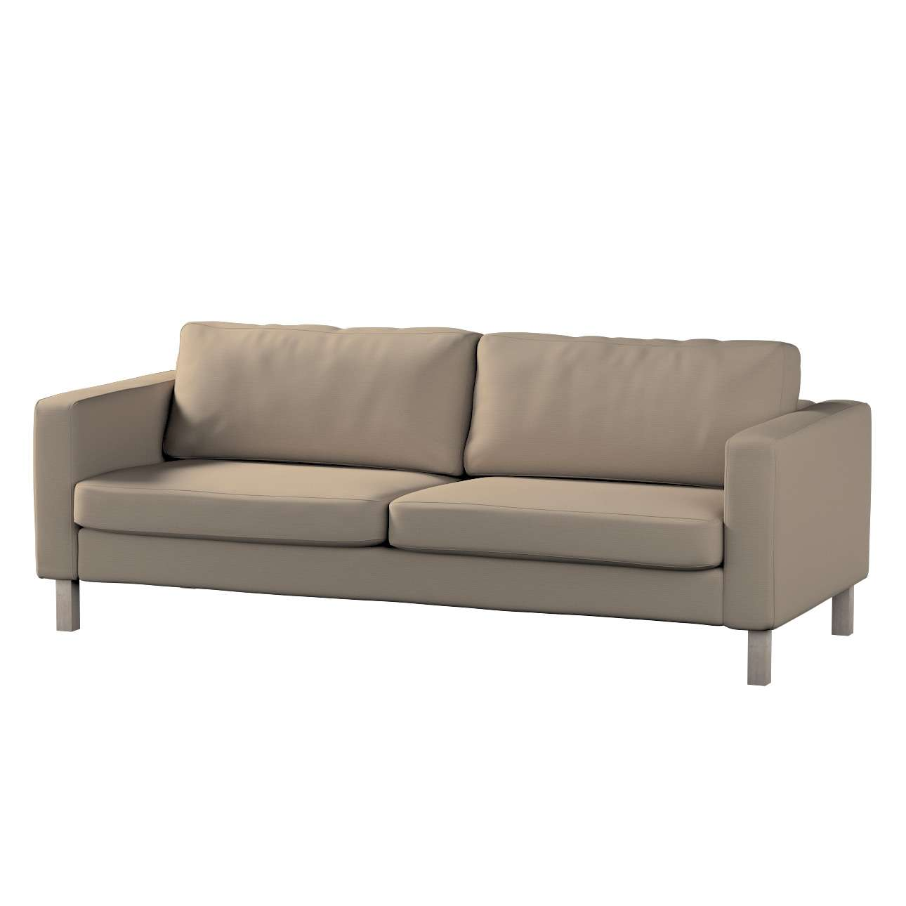 Pokrowiec na sofę Karlstad 3-osobową nierozkładaną, krótki Sofa Karlstad 3-osobowa w kolekcji Cotton Panama, tkanina: 702-28