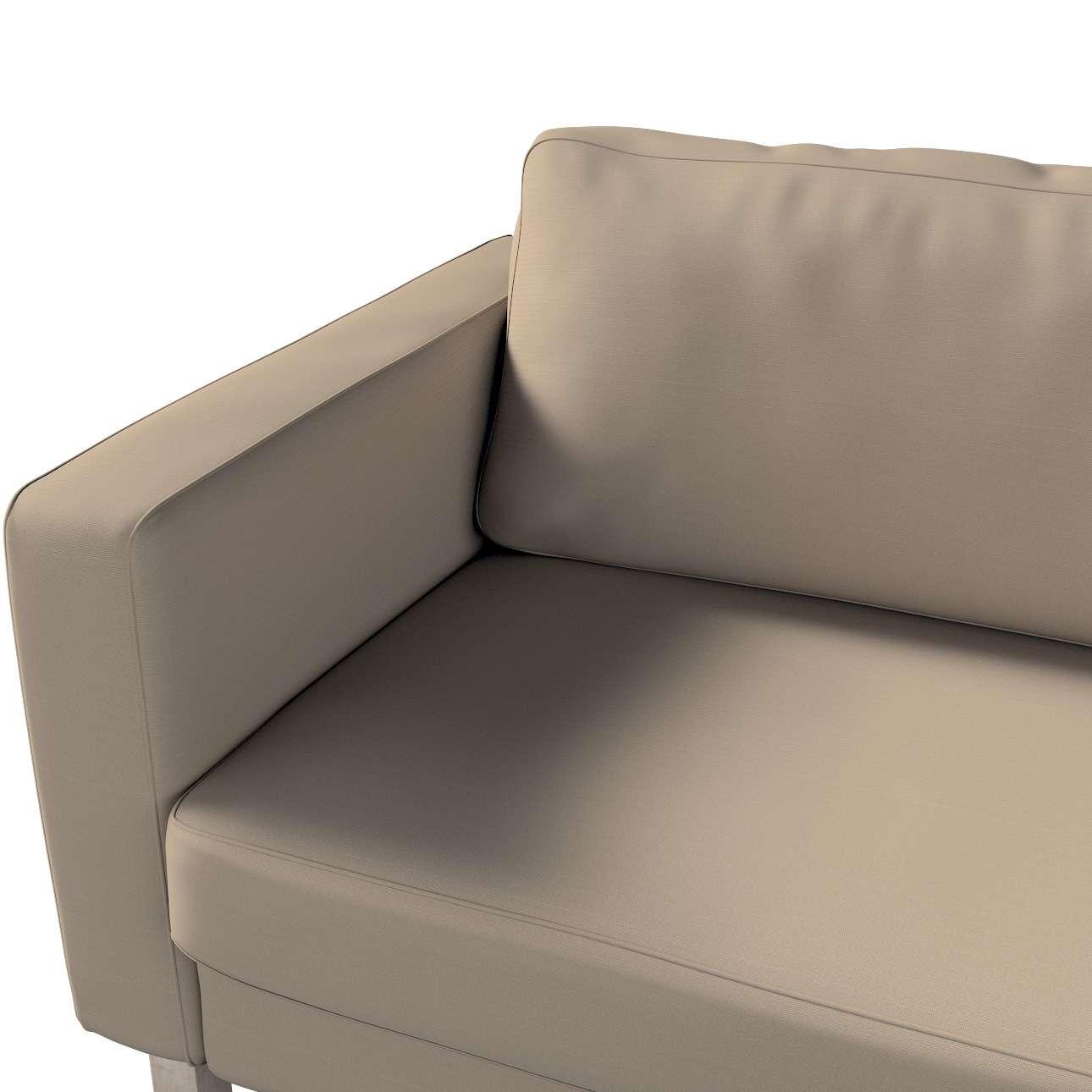 Pokrowiec na sofę Karlstad 3-osobową nierozkładaną, krótki w kolekcji Cotton Panama, tkanina: 702-28