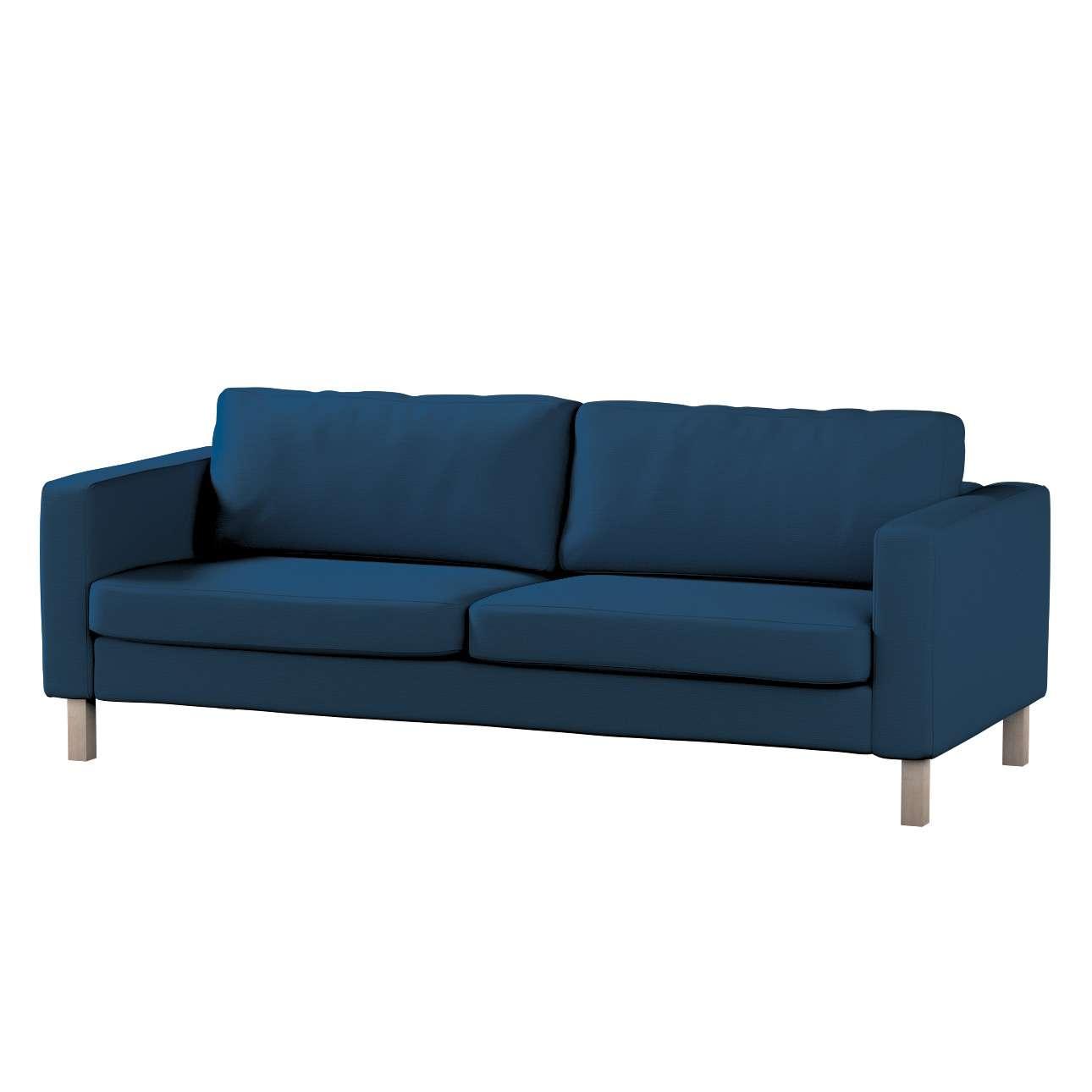 Pokrowiec na sofę Karlstad 3-osobową nierozkładaną, krótki Sofa Karlstad 3-osobowa w kolekcji Cotton Panama, tkanina: 702-30