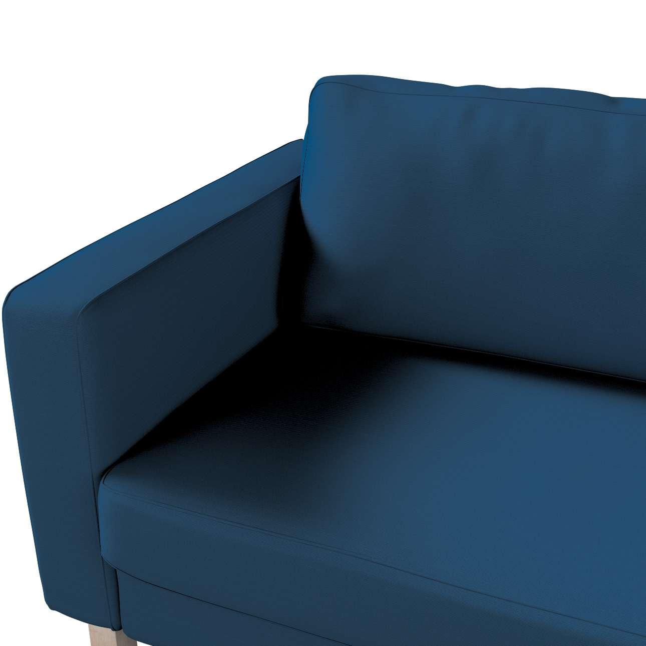 Pokrowiec na sofę Karlstad 3-osobową nierozkładaną, krótki w kolekcji Cotton Panama, tkanina: 702-30