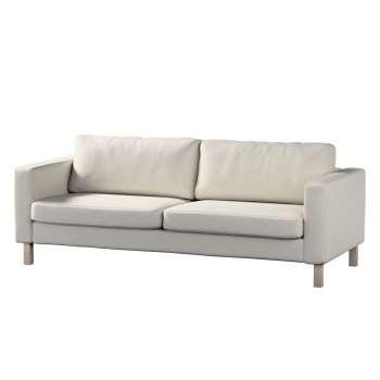 Pokrowiec na sofę Karlstad 3-osobową nierozkładaną, krótki Sofa Karlstad 3-osobowa w kolekcji Cotton Panama, tkanina: 702-31