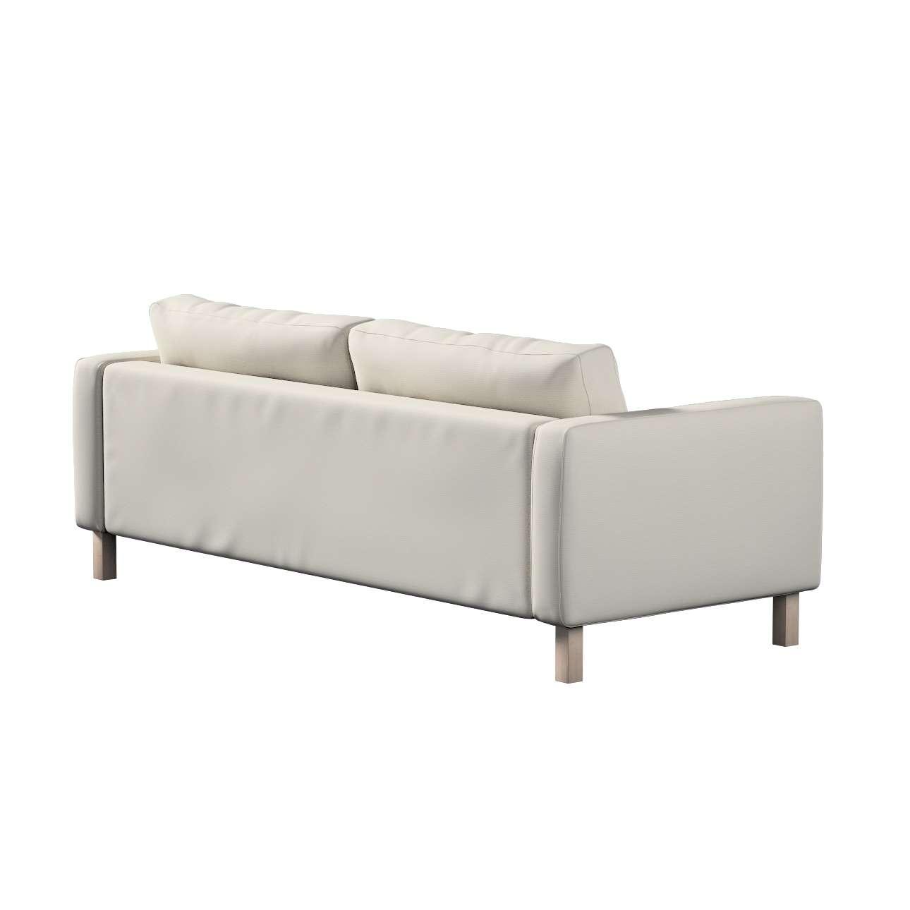 Karlstad 3-Sitzer Sofabezug nicht ausklappbar kurz von der Kollektion Cotton Panama, Stoff: 702-31
