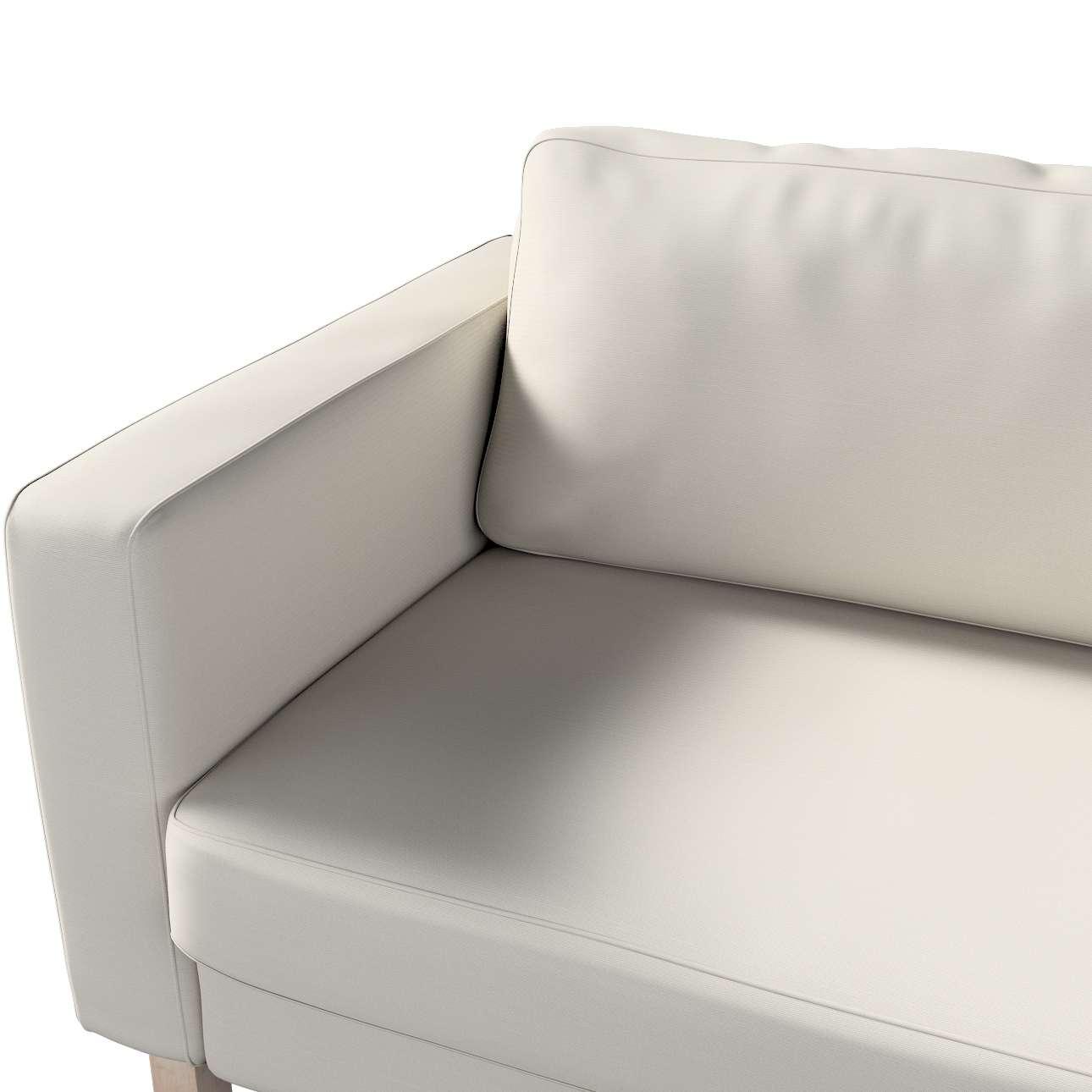 Pokrowiec na sofę Karlstad 3-osobową nierozkładaną, krótki w kolekcji Cotton Panama, tkanina: 702-31