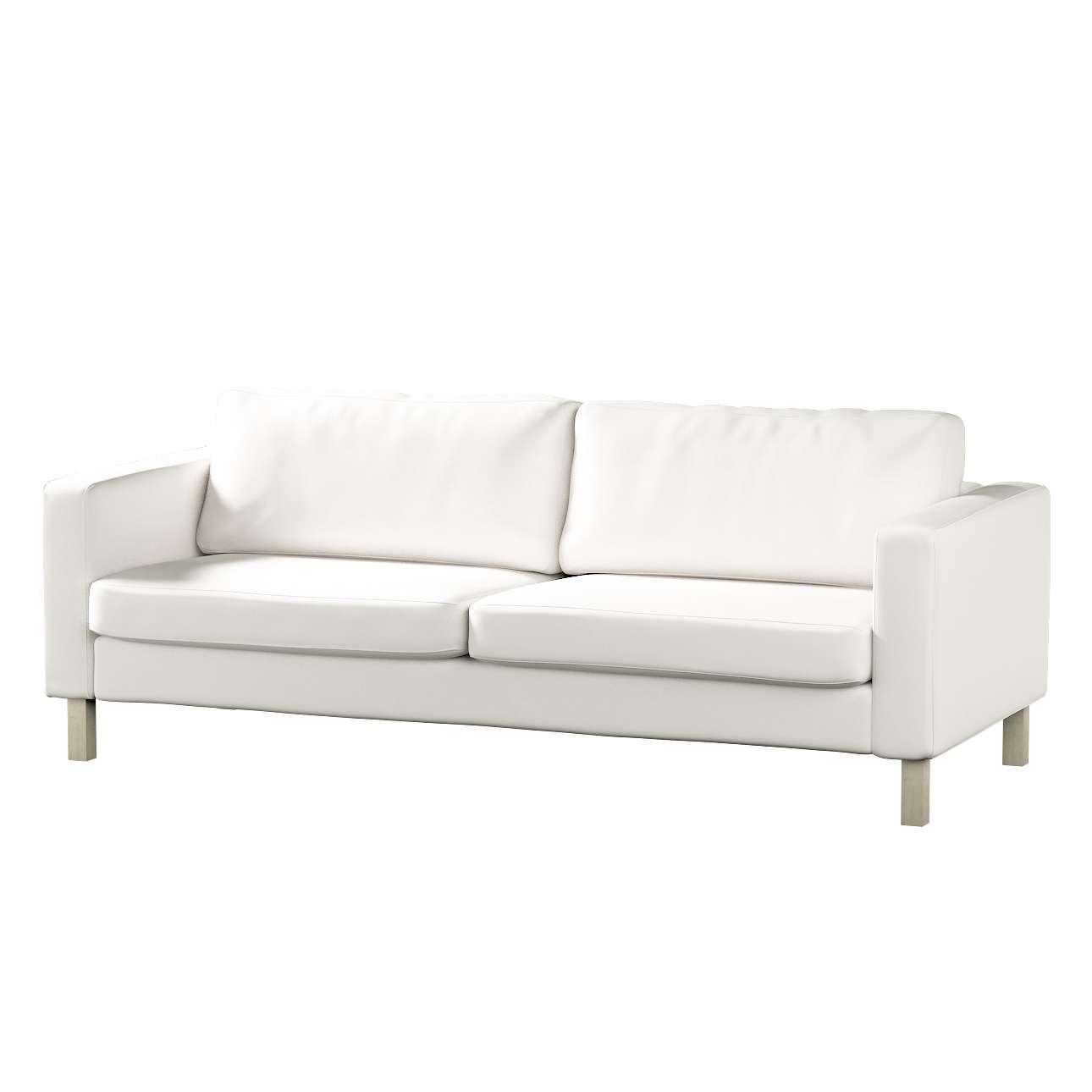 Pokrowiec na sofę Karlstad 3-osobową nierozkładaną, krótki Sofa Karlstad 3-osobowa w kolekcji Cotton Panama, tkanina: 702-34