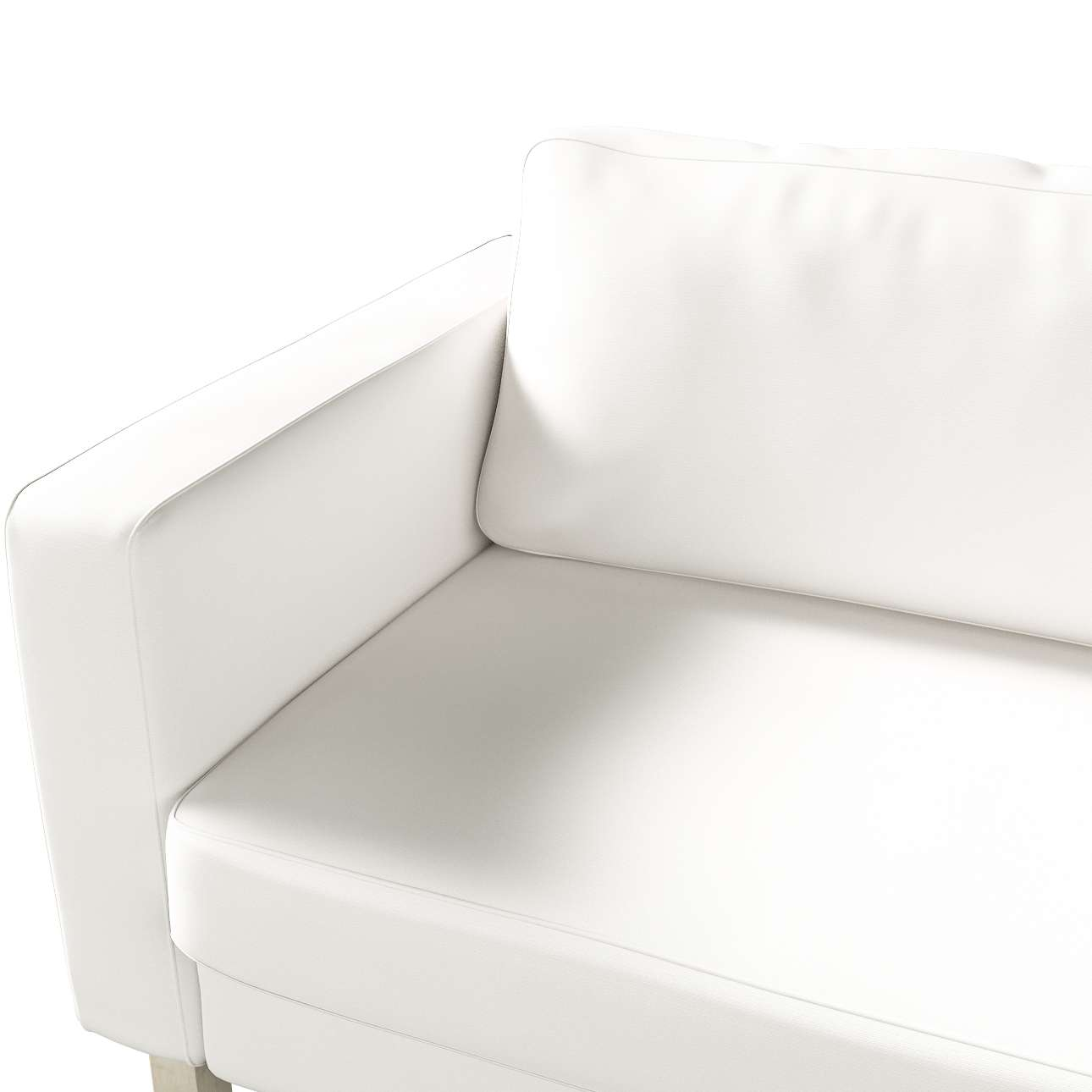 Karlstad 3-Sitzer Sofabezug nicht ausklappbar kurz von der Kollektion Cotton Panama, Stoff: 702-34