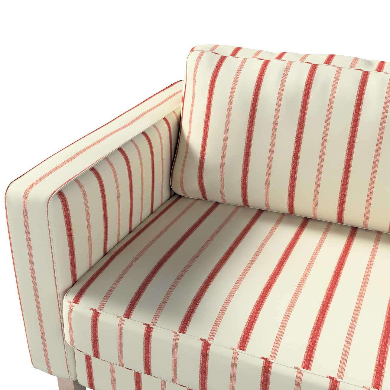 Pokrowiec na sofę Karlstad 3-osobową nierozkładaną, krótki w kolekcji Avinon, tkanina: 129-15