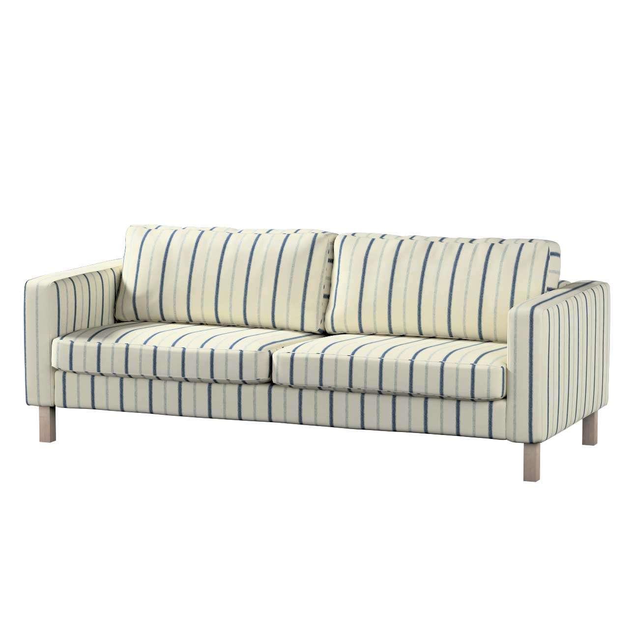 Pokrowiec na sofę Karlstad 3-osobową nierozkładaną, krótki Sofa Karlstad 3-osobowa w kolekcji Avinon, tkanina: 129-66
