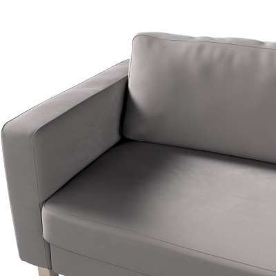 Pokrowiec na sofę Karlstad 3-osobową nierozkładaną, krótki w kolekcji Velvet, tkanina: 704-11