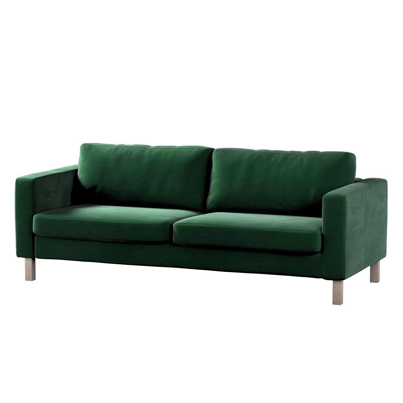 Potah na pohovku IKEA  Karlstad 3-místná, nerozkládací, krátký v kolekci Velvet, látka: 704-13