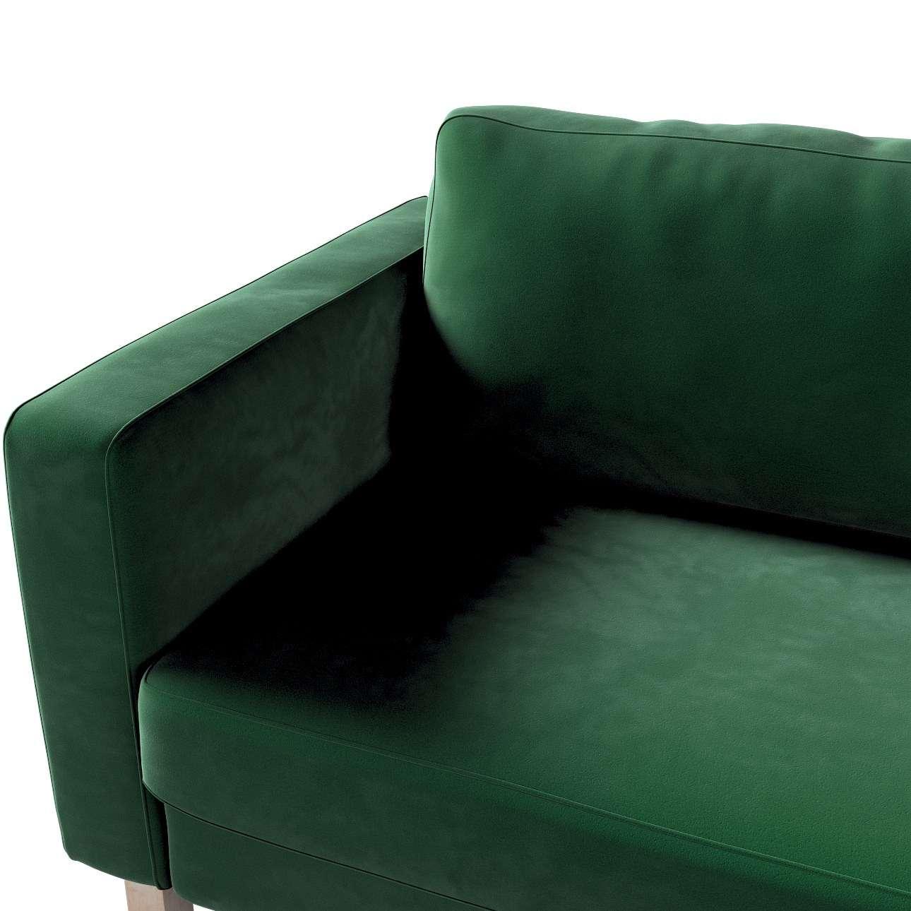 Karlstad 3-Sitzer Sofabezug nicht ausklappbar kurz von der Kollektion Velvet, Stoff: 704-13