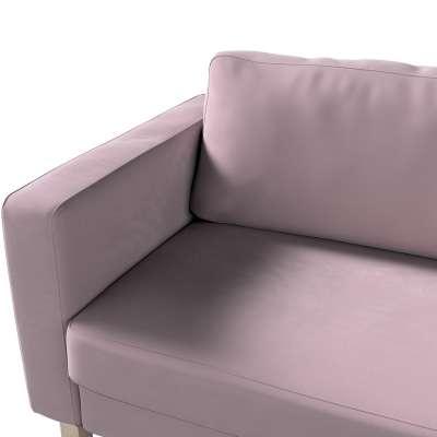 Pokrowiec na sofę Karlstad 3-osobową nierozkładaną, krótki w kolekcji Velvet, tkanina: 704-14