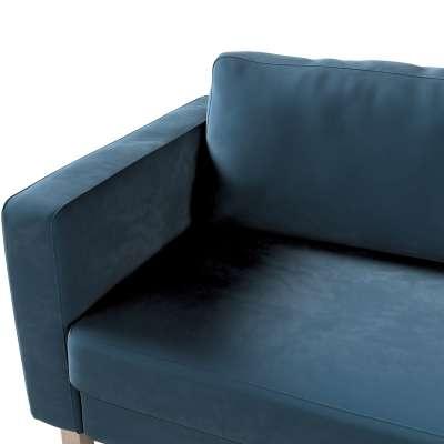 Pokrowiec na sofę Karlstad 3-osobową nierozkładaną, krótki w kolekcji Velvet, tkanina: 704-16