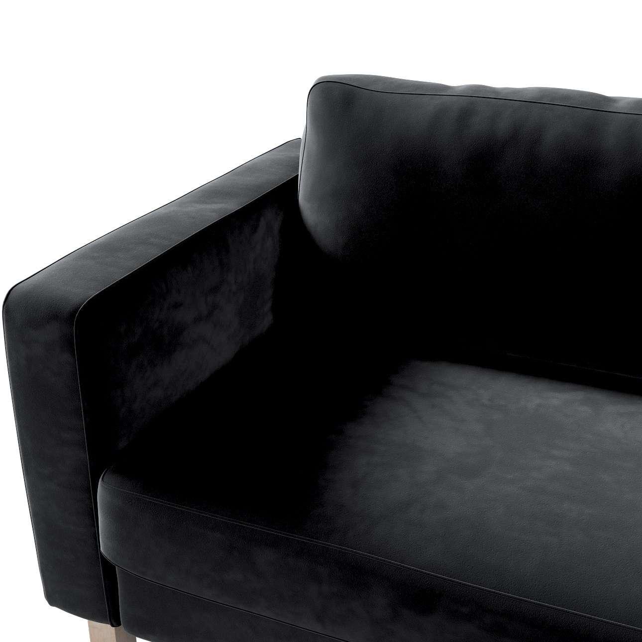 Pokrowiec na sofę Karlstad 3-osobową nierozkładaną, krótki w kolekcji Velvet, tkanina: 704-17