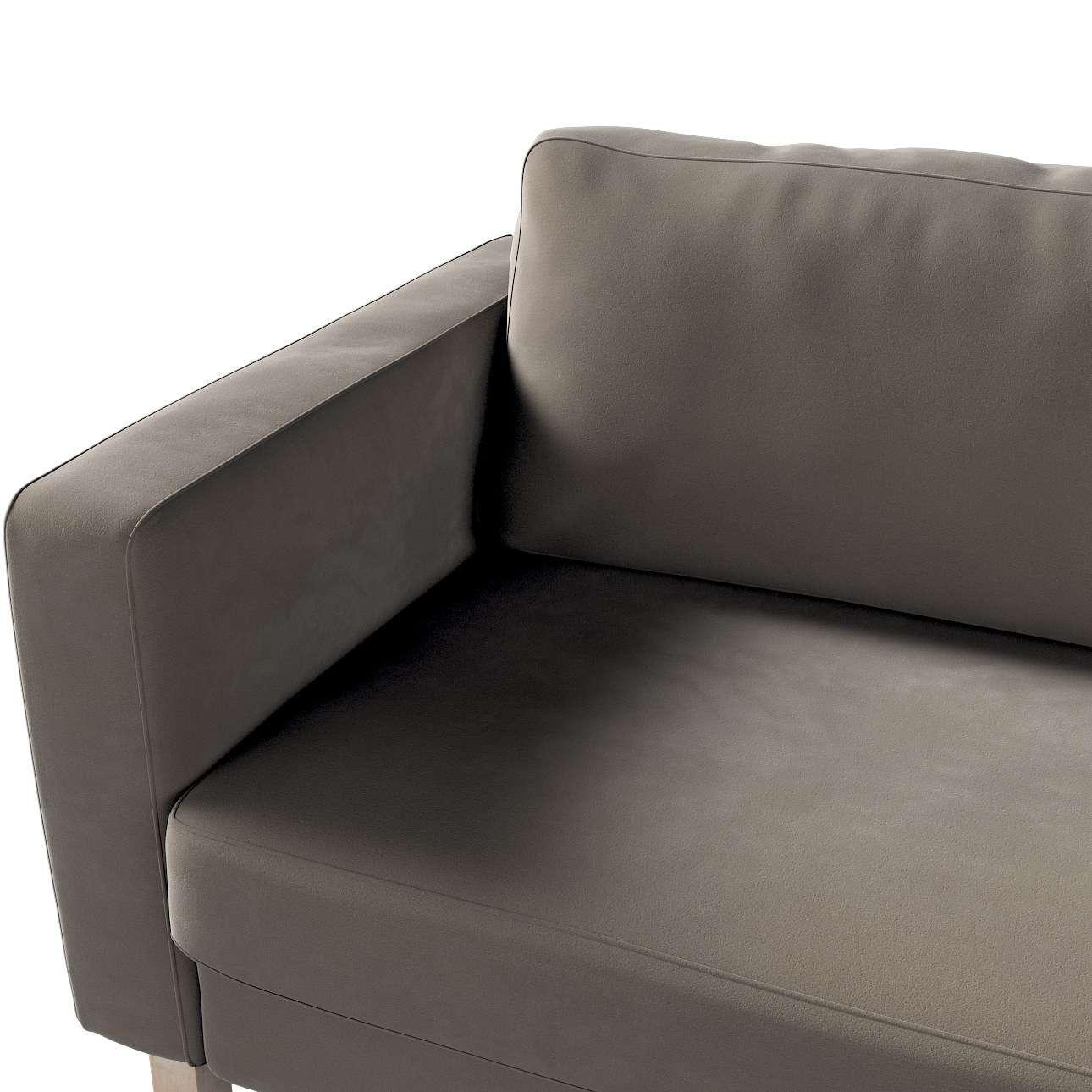 Pokrowiec na sofę Karlstad 3-osobową nierozkładaną, krótki w kolekcji Velvet, tkanina: 704-19