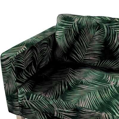 Pokrowiec na sofę Karlstad 3-osobową nierozkładaną, krótki w kolekcji Velvet, tkanina: 704-21