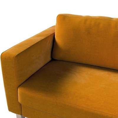 Pokrowiec na sofę Karlstad 3-osobową nierozkładaną, krótki w kolekcji Velvet, tkanina: 704-23