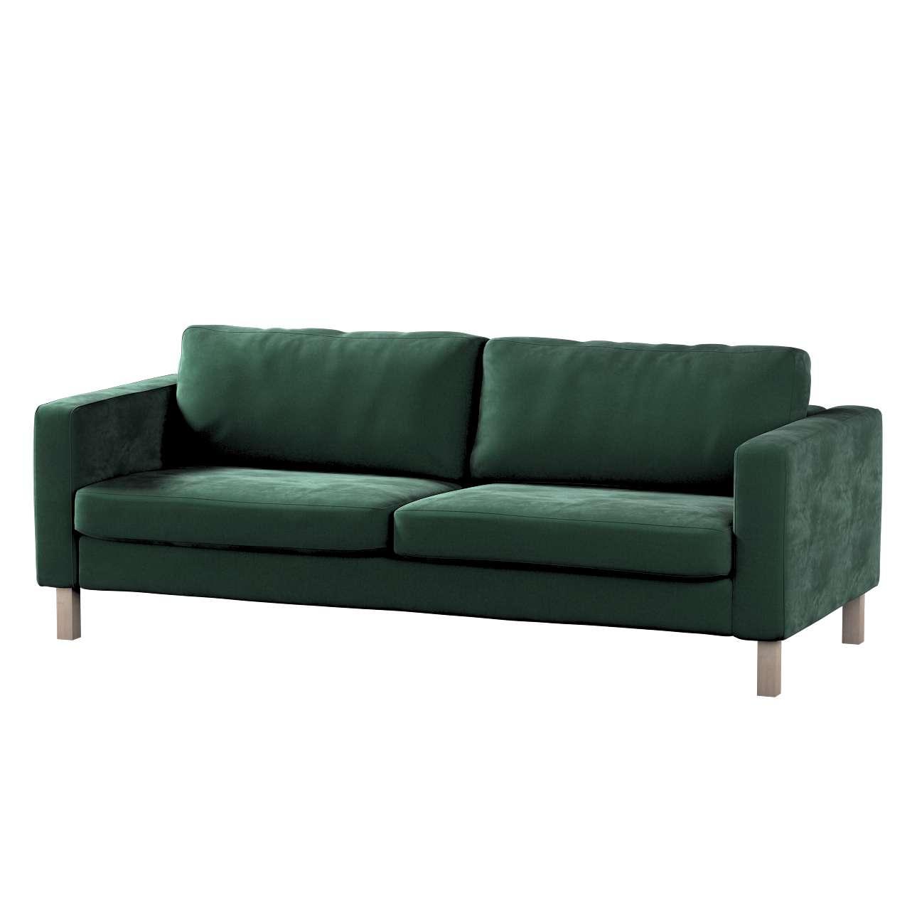 Potah na pohovku IKEA  Karlstad 3-místná, nerozkládací, krátký v kolekci Velvet, látka: 704-25