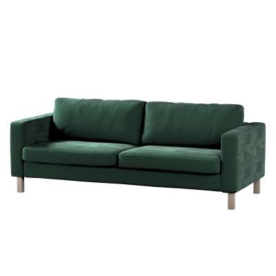 Karlstad 3-Sitzer Sofabezug nicht ausklappbar kurz von der Kollektion Velvet, Stoff: 704-25
