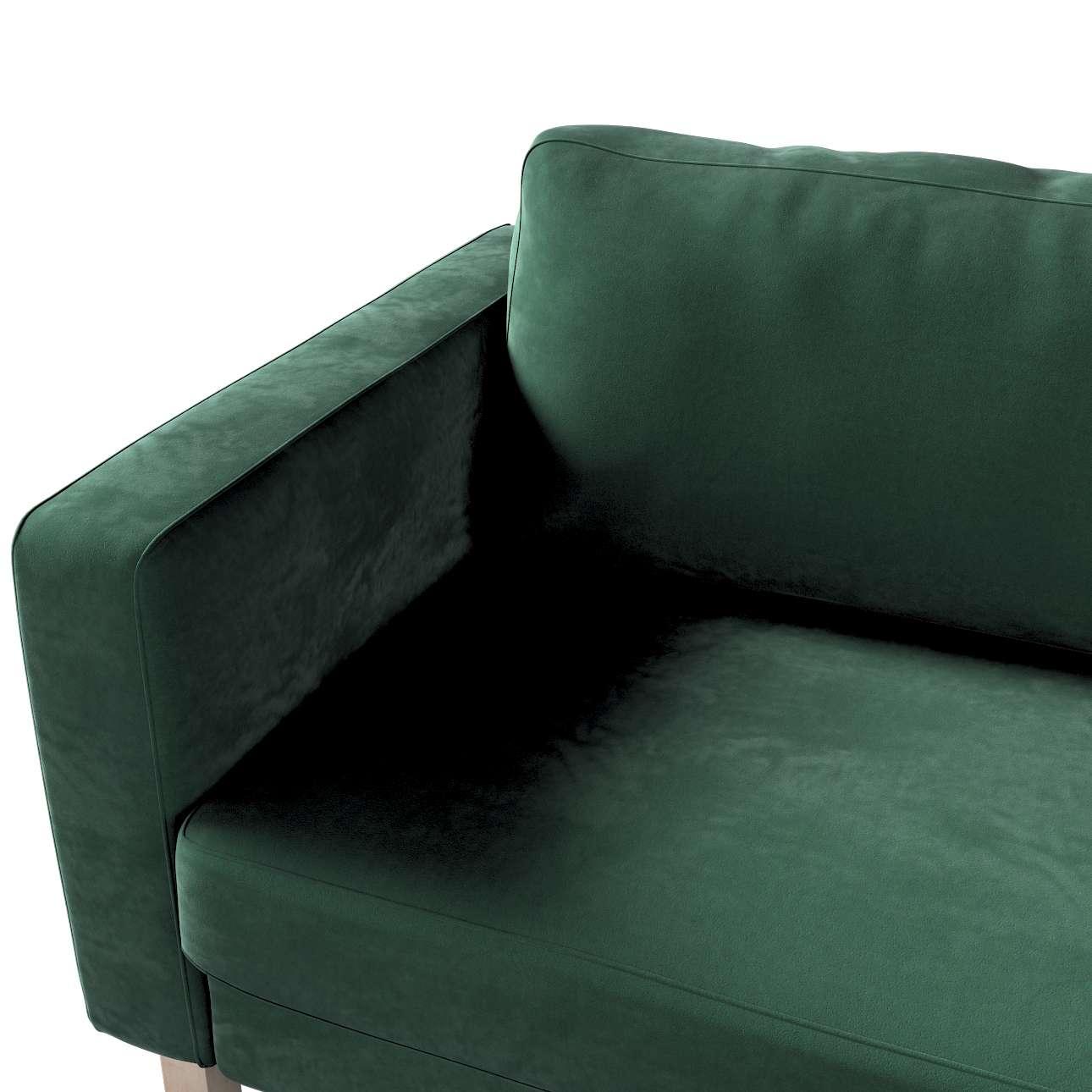 Pokrowiec na sofę Karlstad 3-osobową nierozkładaną, krótki w kolekcji Velvet, tkanina: 704-25
