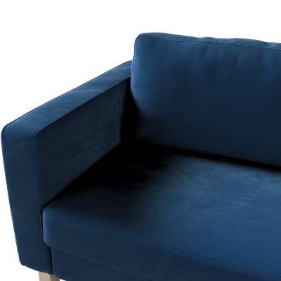 Pokrowiec na sofę Karlstad 3-osobową nierozkładaną, krótki w kolekcji Velvet, tkanina: 704-29