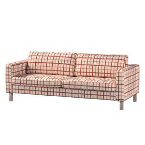 Pokrowiec na sofę Karlstad 3-osobową nierozkładaną, krótki Sofa Karlstad 3-osobowa w kolekcji Avinon, tkanina: 131-15