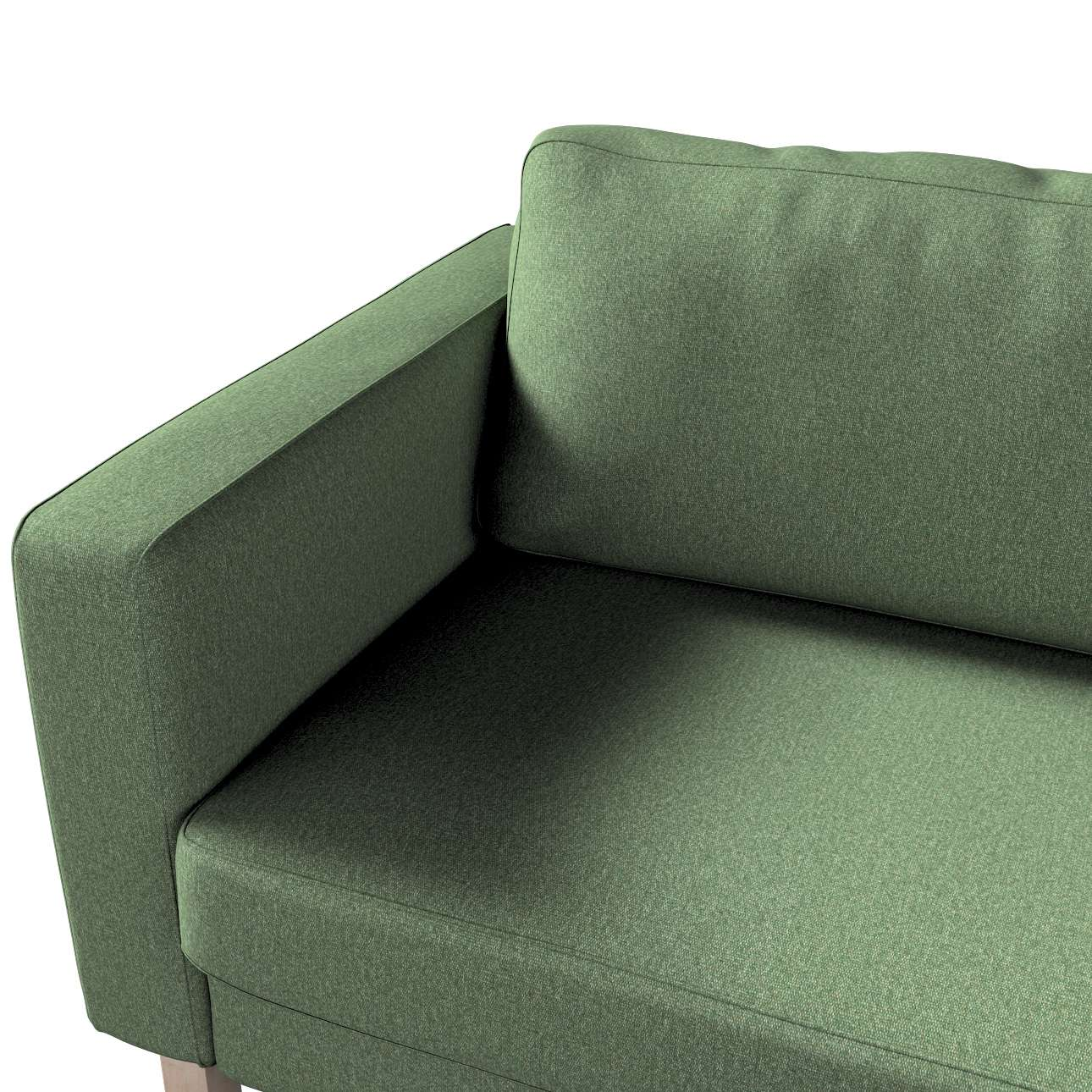 Pokrowiec na sofę Karlstad 3-osobową nierozkładaną, krótki w kolekcji Amsterdam, tkanina: 704-44