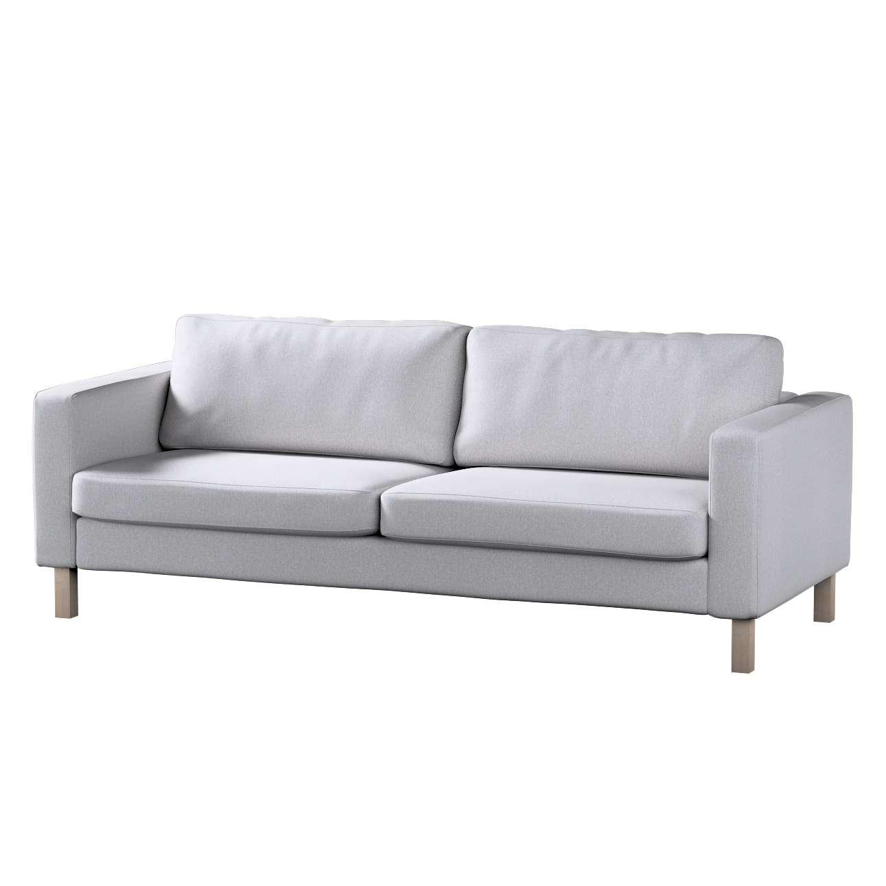 Pokrowiec na sofę Karlstad 3-osobową nierozkładaną, krótki w kolekcji Amsterdam, tkanina: 704-45