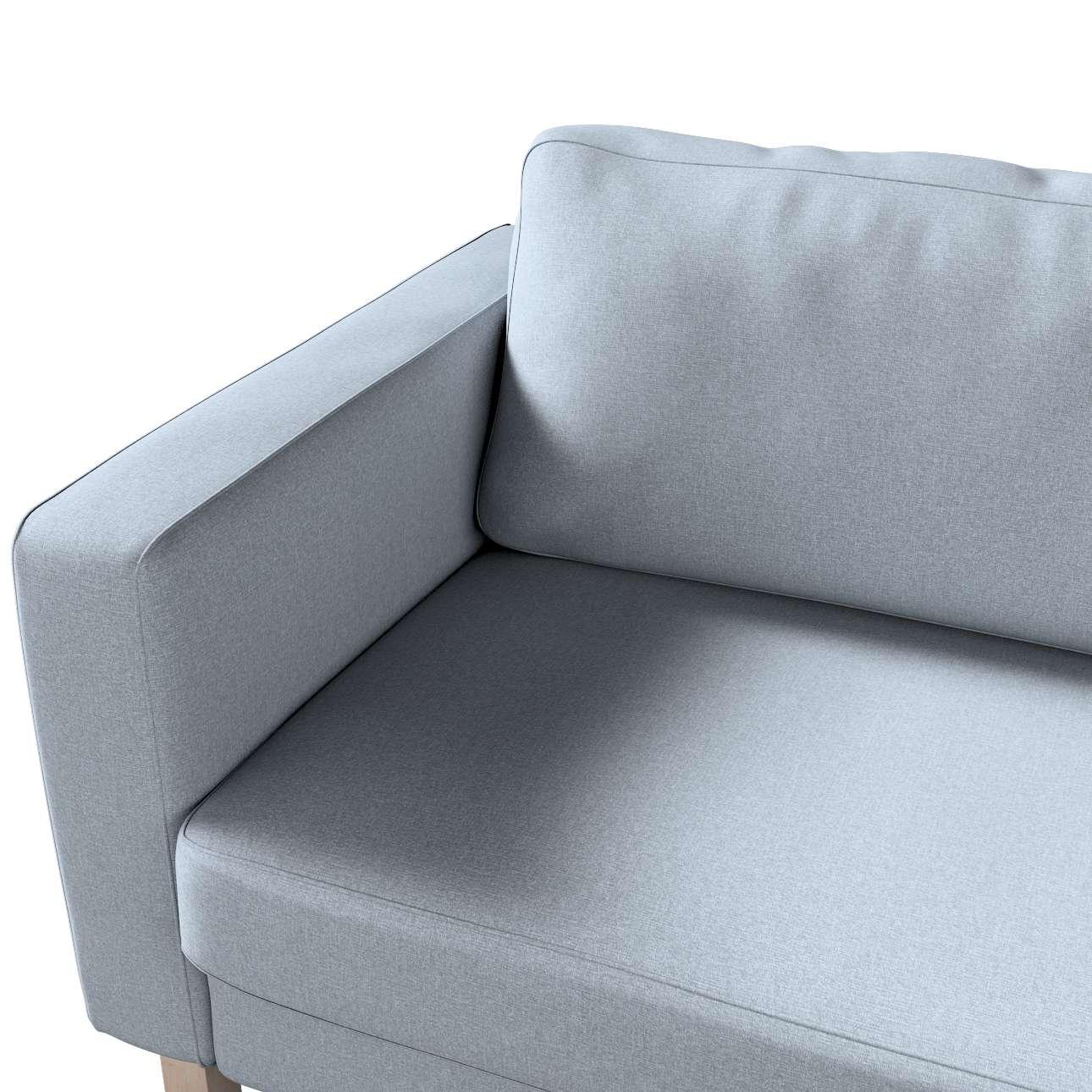Pokrowiec na sofę Karlstad 3-osobową nierozkładaną, krótki w kolekcji Amsterdam, tkanina: 704-46