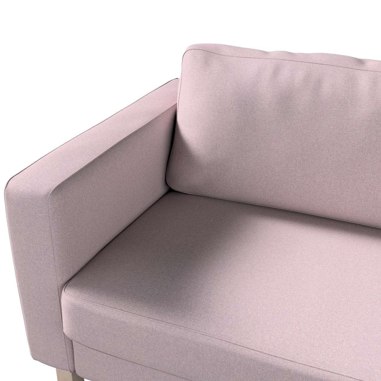 Pokrowiec na sofę Karlstad 3-osobową nierozkładaną, krótki w kolekcji Amsterdam, tkanina: 704-51