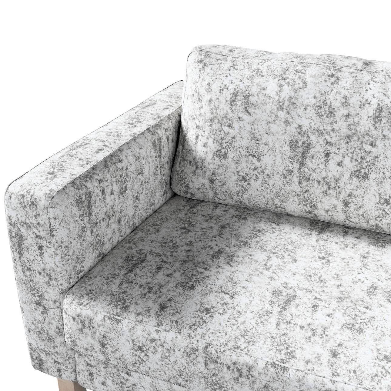 Potah na pohovku IKEA  Karlstad 3-místná, nerozkládací, krátký v kolekci Velvet, látka: 704-49