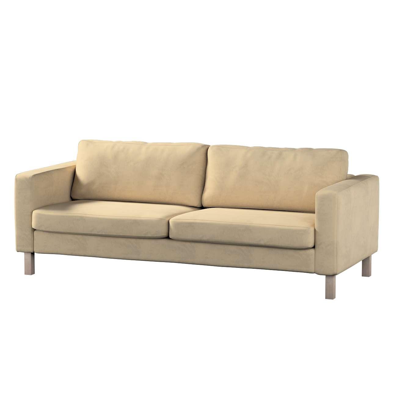 Pokrowiec na sofę Karlstad 3-osobową nierozkładaną, krótki w kolekcji Living II, tkanina: 160-82