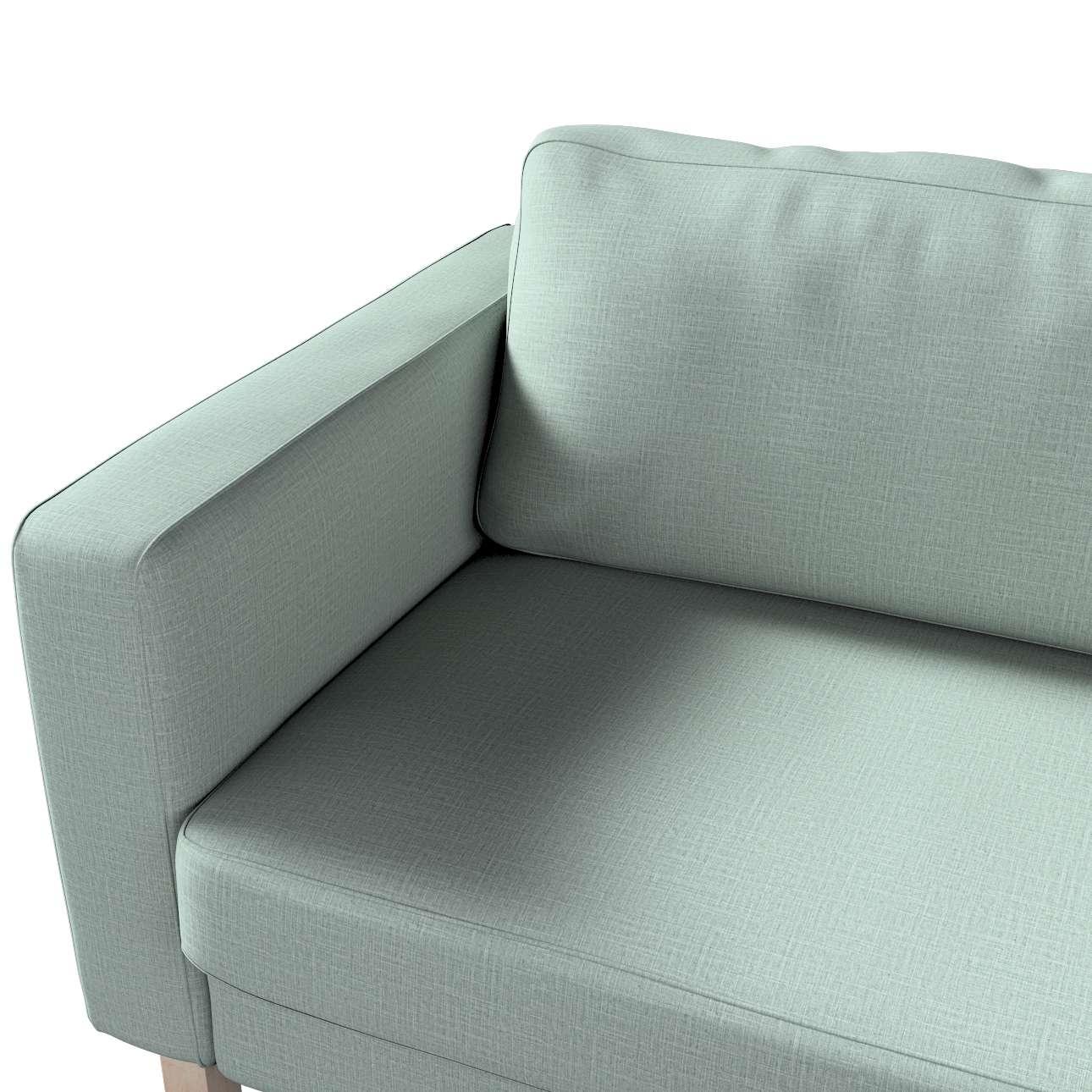 Pokrowiec na sofę Karlstad 3-osobową nierozkładaną, krótki w kolekcji Living II, tkanina: 160-86