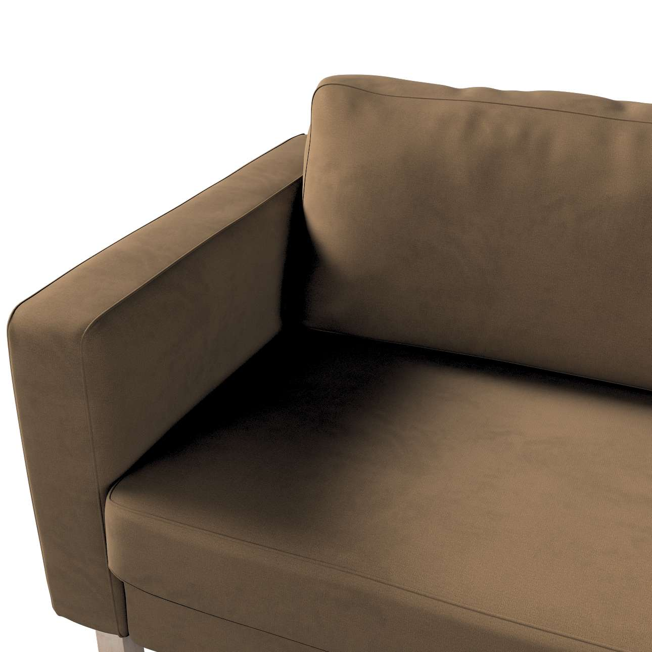 Pokrowiec na sofę Karlstad 3-osobową nierozkładaną, krótki w kolekcji Living II, tkanina: 160-94