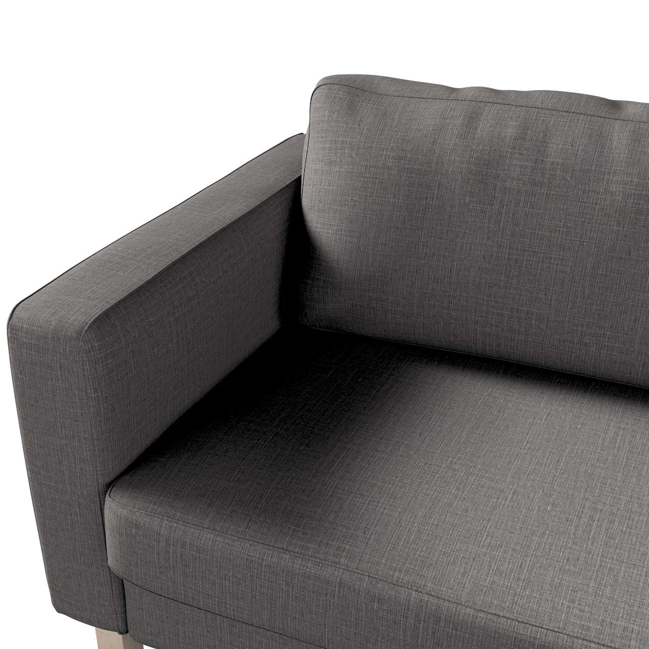 Pokrowiec na sofę Karlstad 3-osobową nierozkładaną, krótki w kolekcji Living, tkanina: 161-16