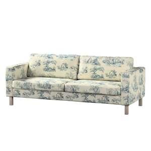 Pokrowiec na sofę Karlstad 3-osobową nierozkładaną, krótki Sofa Karlstad 3-osobowa w kolekcji Avinon, tkanina: 132-66