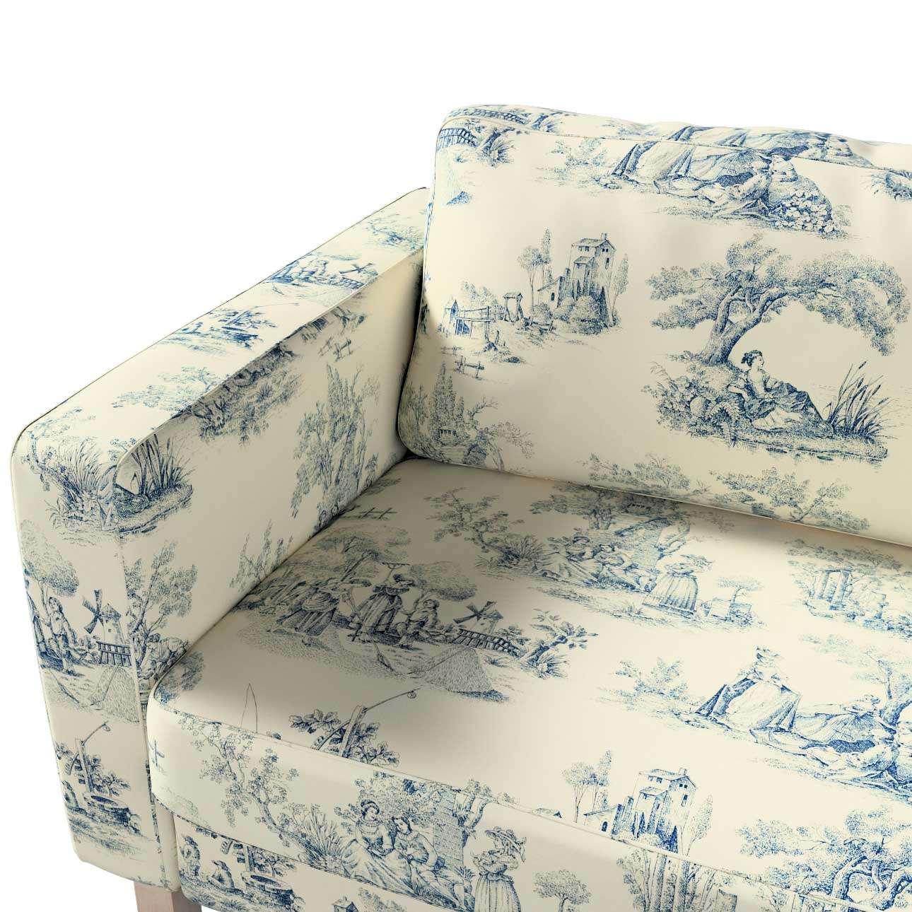 Pokrowiec na sofę Karlstad 3-osobową nierozkładaną, krótki w kolekcji Avinon, tkanina: 132-66