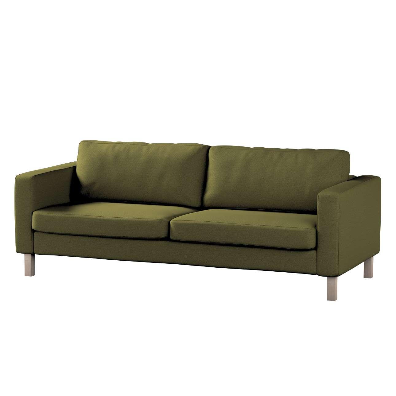 Pokrowiec na sofę Karlstad 3-osobową nierozkładaną, krótki w kolekcji Etna, tkanina: 161-26