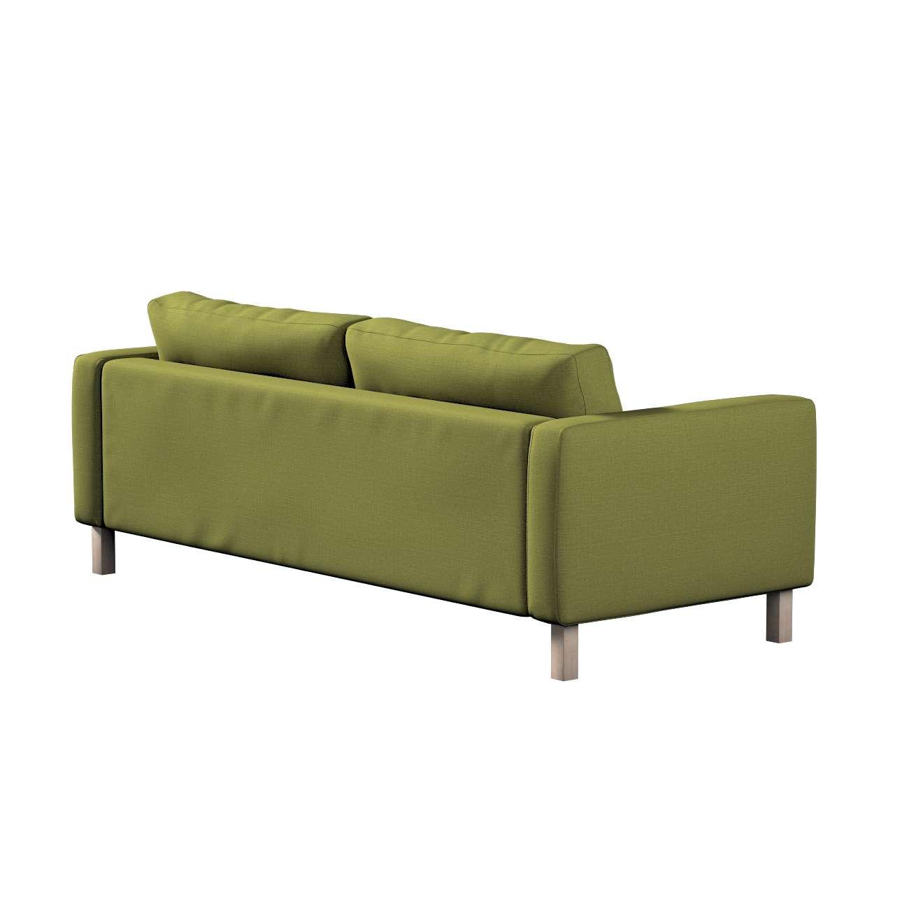 Pokrowiec na sofę Karlstad 3-osobową nierozkładaną, krótki w kolekcji Living, tkanina: 161-13